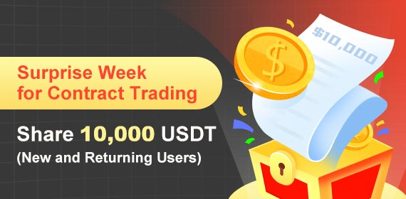 Gate.io Surprise Week for Contract Trading, Share $10,000 USDT (New and Returning Users)