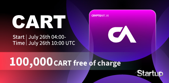 Gate.io Initial Startup Free Offering: CryptoArt(CART) and Announcement of Free Distribution Rules (100,000CART free of charge)
