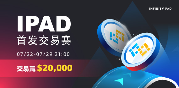 Gate.io Infinity Pad(IPAD)首发交易赛,赢20,000 USDT大奖活动公告