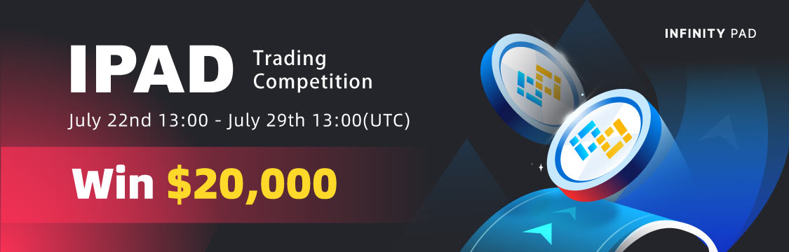 Gate.io Infinity Pad(IPAD)Trading Competition, Total Reward of 20K USDT To Be Won