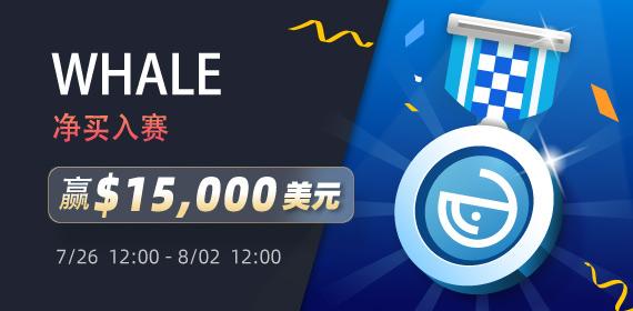 Gate.io WHALE净买入赛,赢$15,000美元大奖活动公告