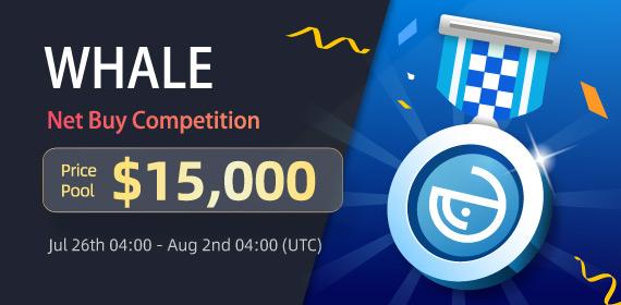 Gate.io Trade WHALE & Win a share of $15,000 Mega Rewards