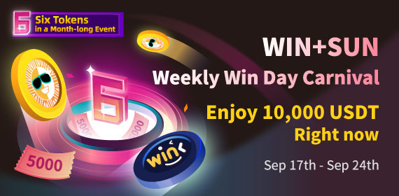 Gate.io & TRON Eco: A Month-long Event _II_ : Weekly Win Day Carnival for WIN+SUN