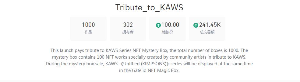"Gate.io比特儿交易所 联合APENFT推出""致敬 KAWS 系列 "" 100幅作品回归主题展插图1"