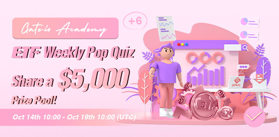 Gate.io ETF Weekly Pop Quiz #6: Share a $5,000 Prize Pool!