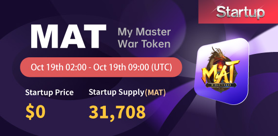 Gate.io Startup Free Offering: My Master War_MAT_ and Announcement of Free Distribution Rules