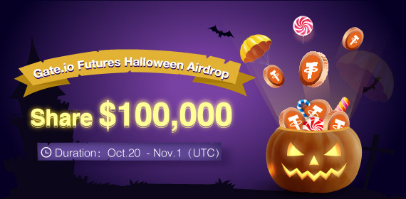 Gate Futures Halloween Airdrop Event, Share 100,000 USDT