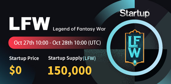 Gate.io Startup Free Offering: Legend of Fantasy War_LFW_ and Announcement of Free Distribution Rules_150,000 LFW free of charge_