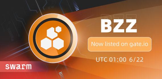 Gate.io 将上线 Swarm (BZZ) 交易的公告