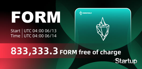 Gate.io Startup Free Offering: Formation Fi(FORM) and Announcement of Free Distribution Rules(833,333.3 FORM free of charge)
