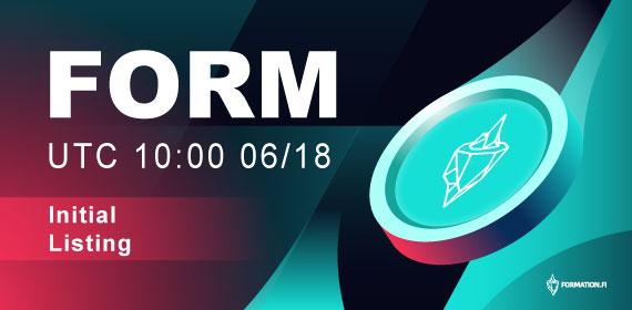 Gate.io will list Formation Fi(FORM)